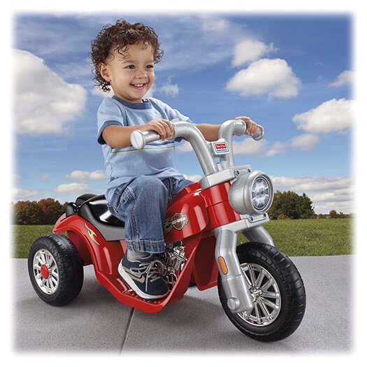 Fisher-Price Power Wheels Harley-Davidson 6V Battery Powered Motorcycle