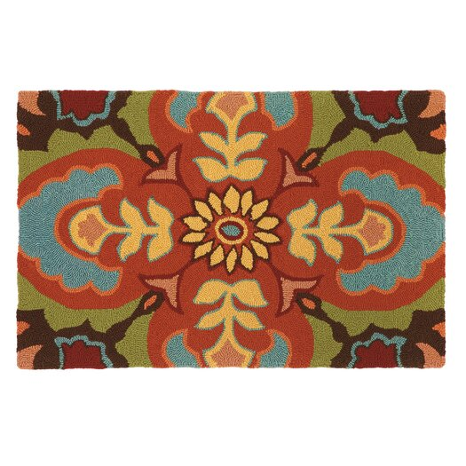 Company C Talavera Tile Chocolate Area Rug