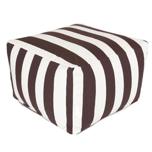 Majestic Home Products Striped Bean Bag Ottoman