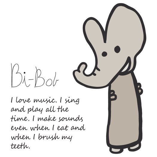 Meo and Friends Bi Bob Figure Pillow