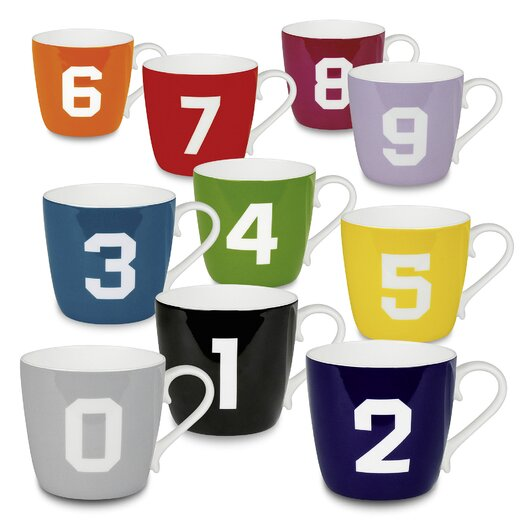 Konitz Color Numbers 10 Piece Mug Set