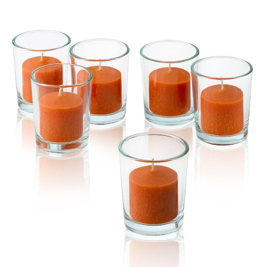 Light In the Dark Orange Mandarin Scented Votive Candles (Set of 72)