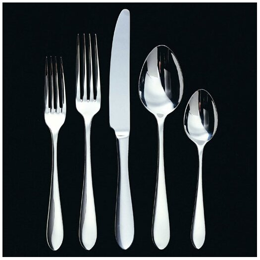 Ginkgo Linden 45 Piece Flatware Set