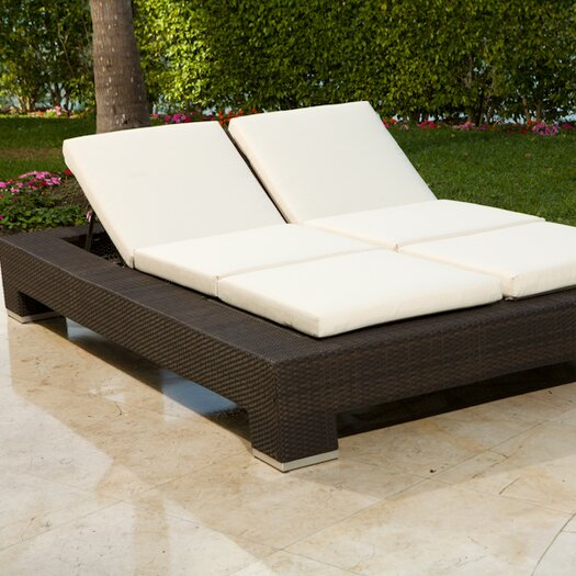 Source Outdoor King Double Chaise Lounge with Cushion