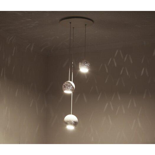 Lightexture Claylight Cluster Three Pendant Chandelier
