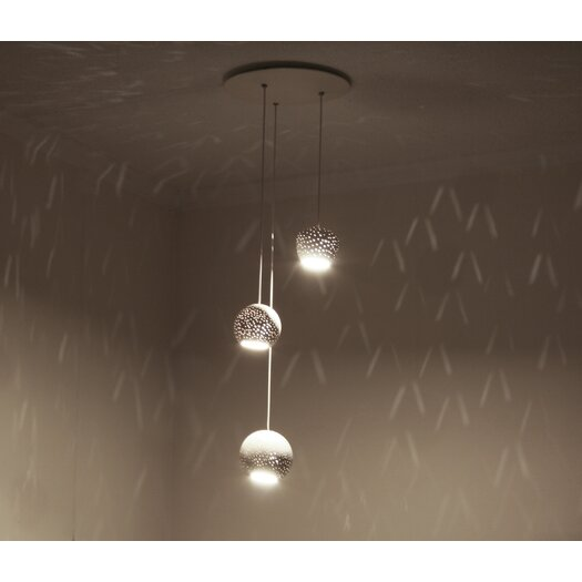 Lightexture Claylight Cluster Three Pendant Chandelier