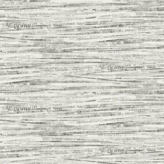 York Wallcoverings  Newsprint Wallpaper