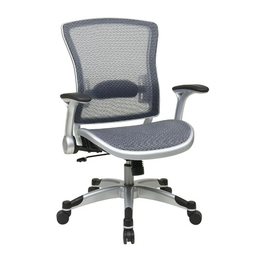 Office Star Products Back Mesh Executive Office Chair with Flip Arms
