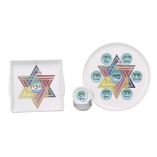 Israel Giftware Design Star of David Porcelain Seder Set