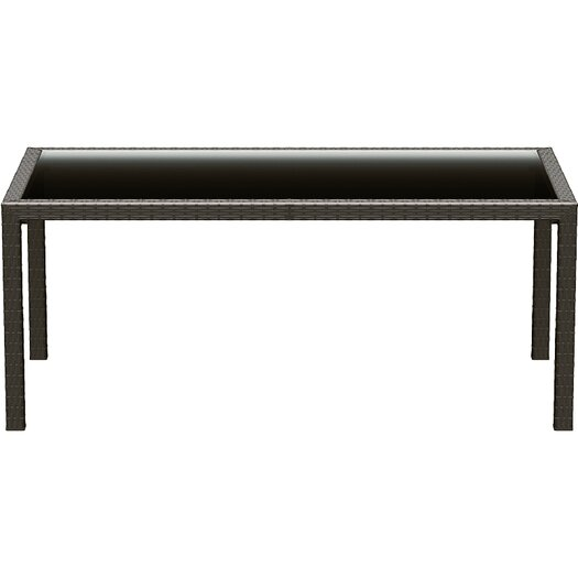 "Compamia 71"" Miami Resin Wickerlook Rectangle Dining Table"