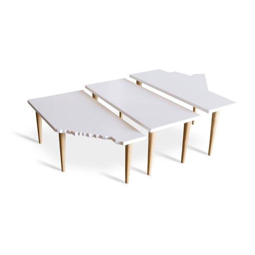 Gus* Modern Prairie 3 Piece Nesting Tables