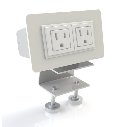 Scale 1:1 EYHOV Rai Desktop Mounted Power Unit with 2 Outlets