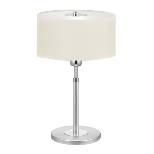 "EGLO Halva 15"" H Table Lamp with Drum Shade"