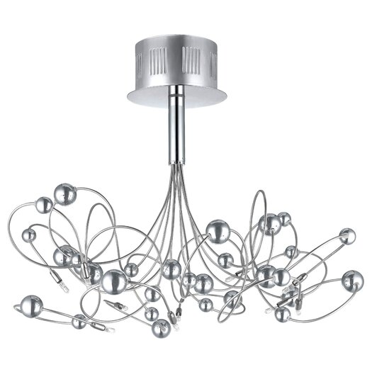 EGLO Othello 10 Light Semi Flush Ceiling Light