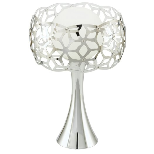 "EGLO Oxana 12.88"" H Table Lamp with Drum Shade"