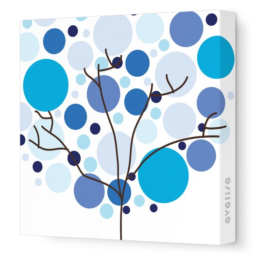 Avalisa Imaginations Foliage Stretched Canvas Art