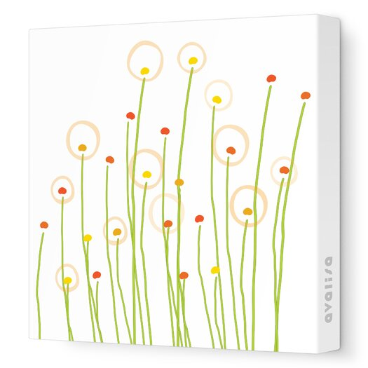 Avalisa Imaginations Dandelion Stretched Canvas Art