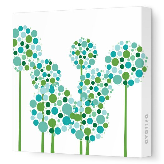Avalisa Imaginations Allium Stretched Canvas Art