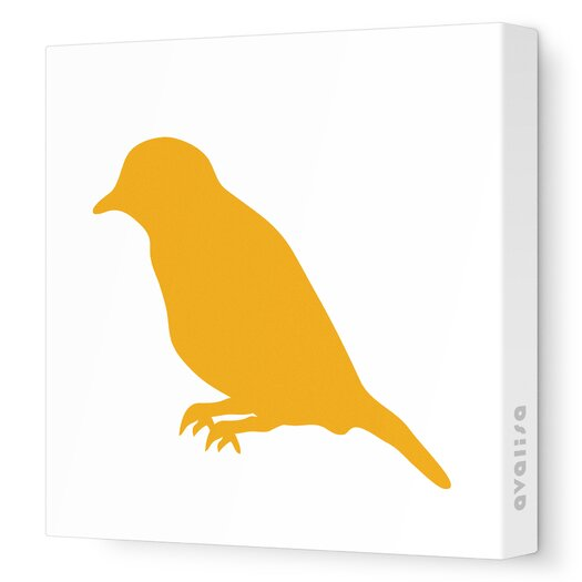 Avalisa Silhouettes Bird Stretched Canvas Art