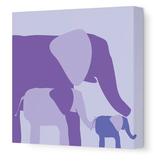 Avalisa Animals Elephants Stretched Canvas Art
