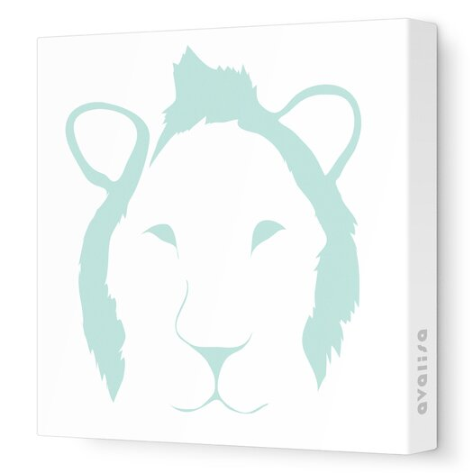 Avalisa Animal Faces Lion Stretched Canvas Art