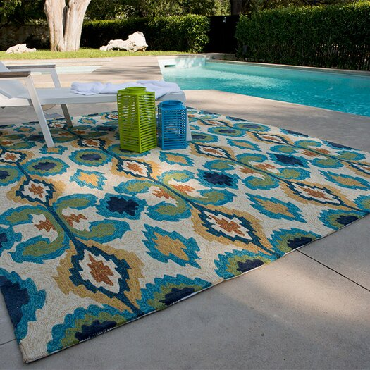 Loloi Rugs Enzo Ivory/Blue Indoor/Outdoor Area Rug