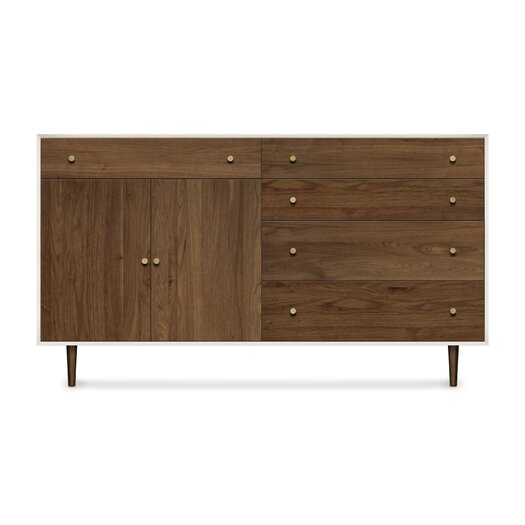 Copeland Furniture Mimo 4 Drawers and 1 Drawer over 2 Door Dresser
