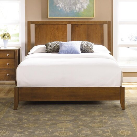 Dominion Platform Bed with Two Panel Headboard