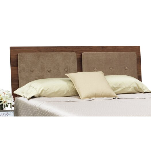 Mimo Bed with Tufted Upholstered Fabric Headboard
