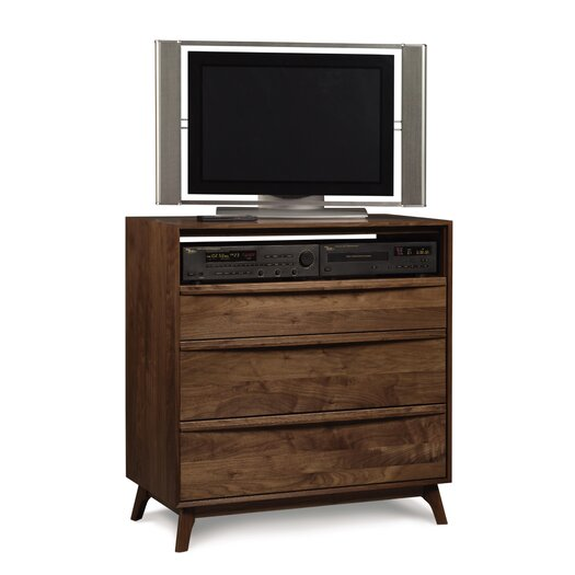 Copeland Furniture Catalina 3 Drawer Chest and Media Organizer
