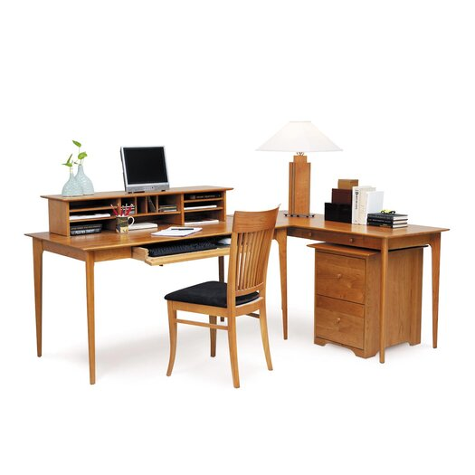 Copeland Furniture Sarah Computer Desk with Keyboard Tray