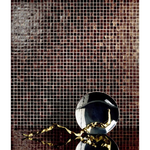 Casa Italia Bronze/Gold Monocolor Glass Mosaic in Brunito Bronze