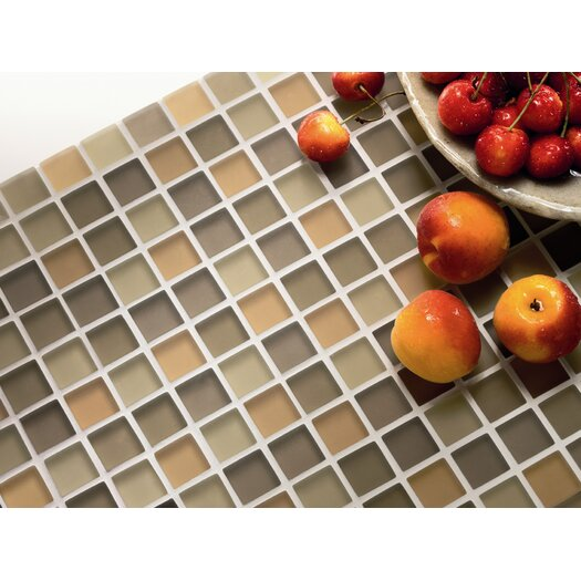 Casa Italia Crystal-A Glass Mosaic in Beige Mix Frosted