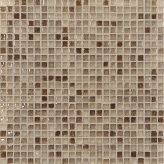 "Casa Italia Fashion 1/2"" x 1/2"" Glass Mosaic in Mix Fashion Sand"