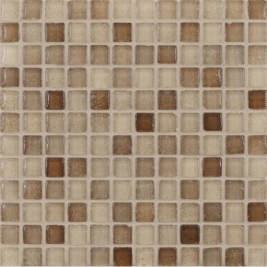 "Casa Italia Fashion 1"" x 1"" Glass Mosaic in Mix Fashion Sand"