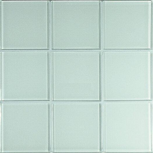 Casa Italia Crystal-A Glass Mosaic in Glossy White