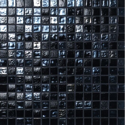 Casa Italia Madreperla Glass Mosaic in Nero Mix