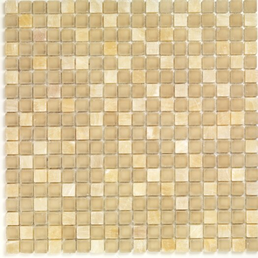 Casa Italia Pure & Natural Natural Stone and Glass Mosaic in Onix Beige