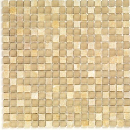 Casa Italia Pure & Natural Stone and Glass Mosaic in Onix Beige