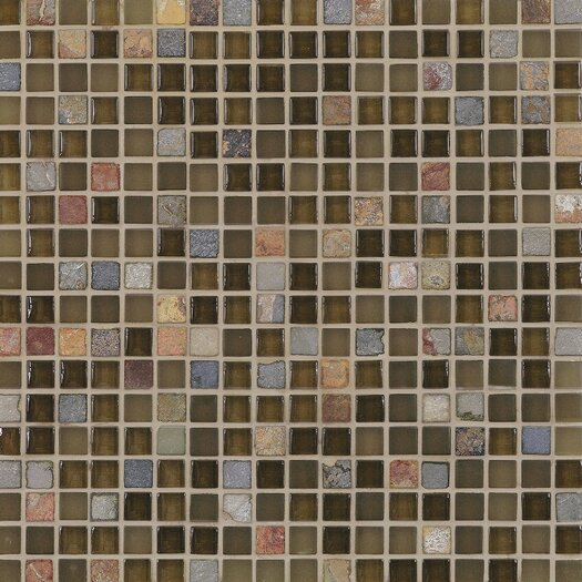 Casa Italia Pure & Natural Stone and Glass Mosaic in Pure Green and Natural Slate