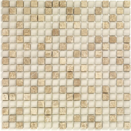 Casa Italia Pure & Natural Natural Stone and Glass Mosaic in Pure Light Emperador and Natural Frosted