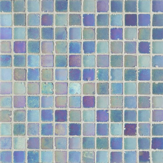 "Casa Italia Metallica Satin 1"" x 1"" Glass Mosaic in Blue"
