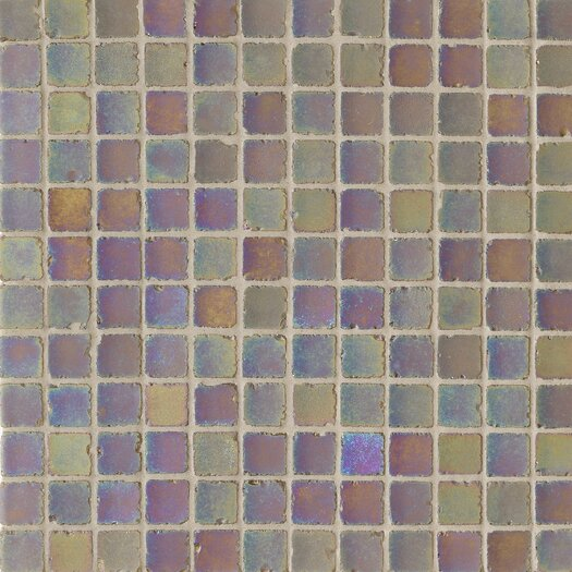"Casa Italia Metallica Satin 1"" x 1"" Glass Mosaic in Vinaccia"