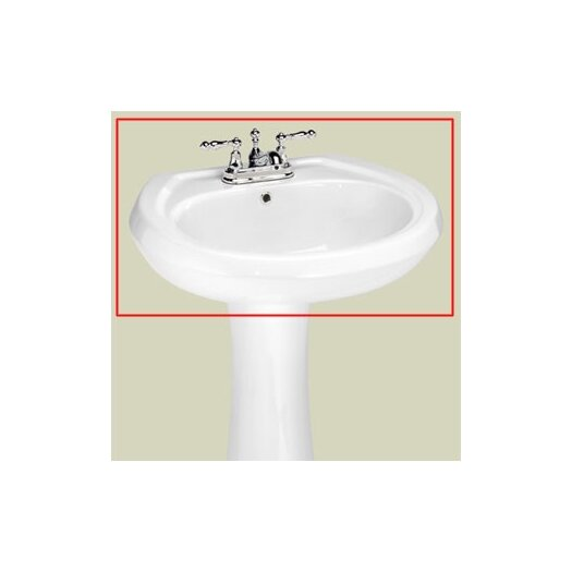 "St Thomas Creations Stafford 4"" Center Medium Pedestal Sink Basin"