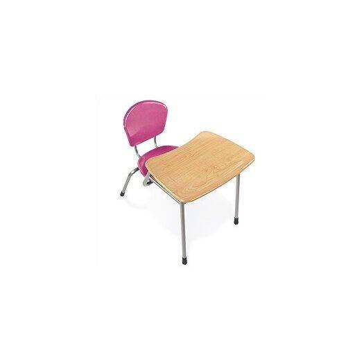 "Virco Zuma 32.5"" Recycled Wood Combo Chair Desk"