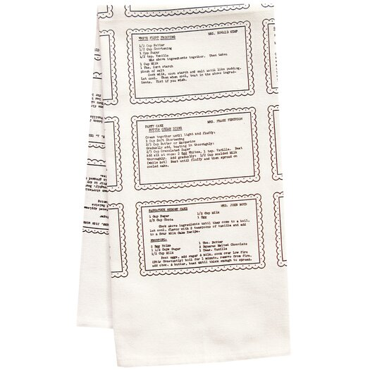 Artgoodies Organic Retro Recipes Dessert Tea Towel