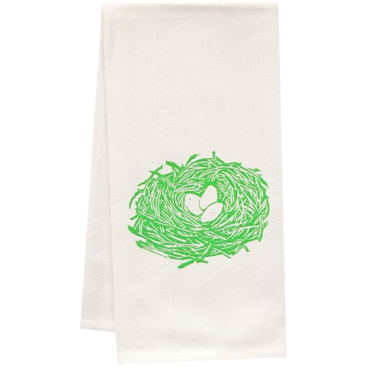 Artgoodies Organic Nest Block Print Tea Towel