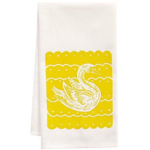 Artgoodies Organic Swan Block Tea Towel