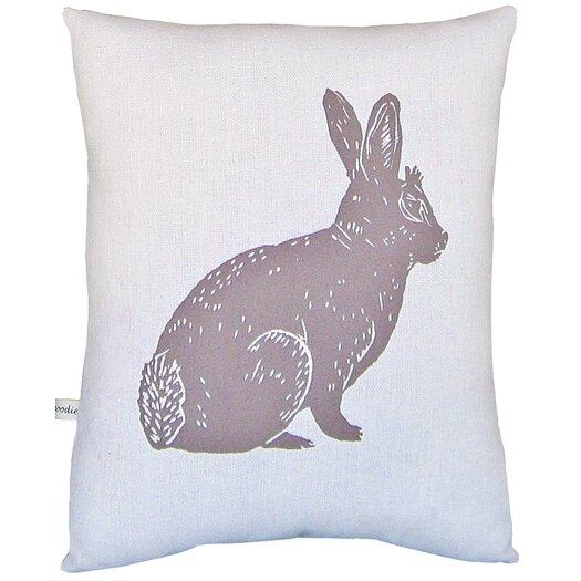 Artgoodies Bunny Block Print Squillow Accent Pillow