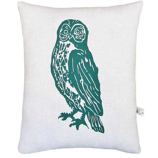Artgoodies Owl Block Print Squillow Accent Pillow